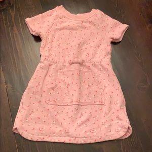Terry clothe bubblegum pink toddler dress 💕